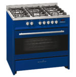 Scandium Dark Blue Upright Cooker Gas-Electric 90cm SCU900DB