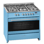 Scandium Burgundy Upright Cooker Gas-Electric 90cm SCU900BG